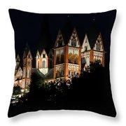Limburg Cathedral At Night Throw Pillow