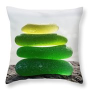Lime Breeze Throw Pillow by Barbara McMahon