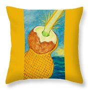 Lime Coconut Pineapple Guitar Throw Pillow