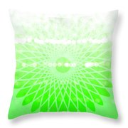 Lime Green Spirograph Throw Pillow