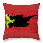 Lime Red Throw Pillow