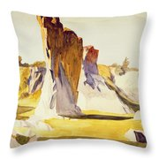 Lime Rock Quarry II Throw Pillow by Edward Hopper