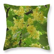 Lime Trees In Bloom  Throw Pillow