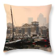 Limehouse Basin In London. Throw Pillow