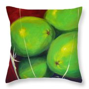 Limes In A Vase Throw Pillow