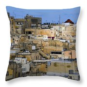 Limestone Buildings In Malta Throw Pillow