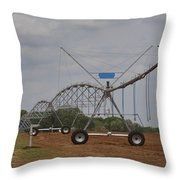 Limestone County Crop Irrigation Throw Pillow