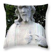 Limestone Jesus Throw Pillow