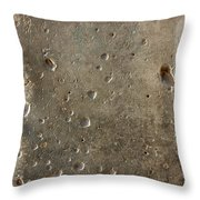 Limestone Pockmarked By Bullets Throw Pillow