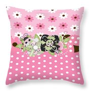 Limited Ladybugs  Throw Pillow