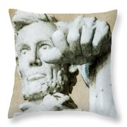 Lincoln - 3463 Watercolor 1 Throw Pillow