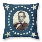 Lincoln 1860 Presidential Campaign Banner - Bust Portrait Throw Pillow