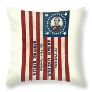Lincoln 1860 Presidential Campaign Banner Throw Pillow