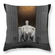 Lincoln And Columns Throw Pillow