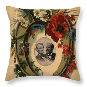 Lincoln And Garfield Throw Pillow