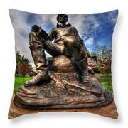 Lincoln At Delaware Park  Throw Pillow