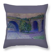 Lincoln Ave Bridge Pittsburgh Throw Pillow