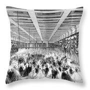 Lincoln Ball, 1865 Throw Pillow