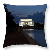 Lincoln By Night Throw Pillow
