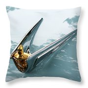 Lincoln Capri Hood Ornament Throw Pillow
