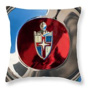 Lincoln Capri Wheel Emblem Throw Pillow by Jill Reger
