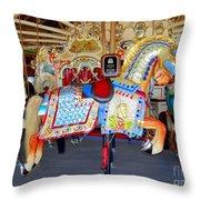 Lincoln Centennial Horse Throw Pillow