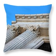 Lincoln County Courthouse Columns Looking Up 01 Throw Pillow
