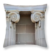Lincoln County Courthouse Columns Throw Pillow