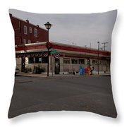 Lincoln Diner Throw Pillow