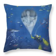 Lincoln Diving Center Throw Pillow