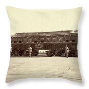 Lincoln Funeral Car, 1865 Throw Pillow