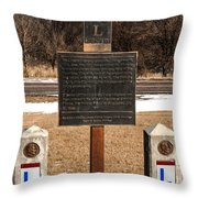 Lincoln Highway Marker Throw Pillow