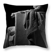 Lincoln In Black And White Throw Pillow