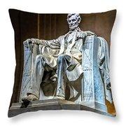 Lincoln In Memorial Throw Pillow