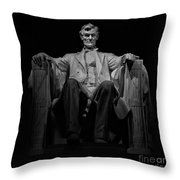 Lincoln In Solitude Throw Pillow