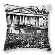 Lincoln Inauguration, 1861 Throw Pillow