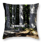 Lincoln Logs Throw Pillow