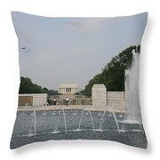 Lincoln Memorial And Fountain - Washington Dc Throw Pillow