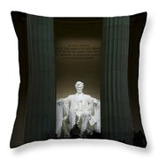 Lincoln Memorial At Night Throw Pillow