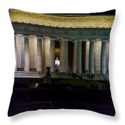 Lincoln Memorial At Night Throw Pillow