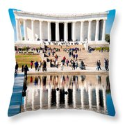 Lincoln Memorial Throw Pillow by Greg Fortier