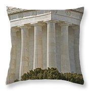 Lincoln Memorial Pillars Throw Pillow