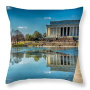 Lincoln Memorial Reflection Throw Pillow