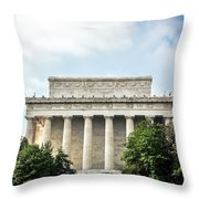 Lincoln Memorial Side View Throw Pillow