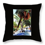 Lincoln Road In Miami Beach Throw Pillow