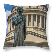 Lincoln Stands Guard Throw Pillow