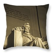 Lincoln Statue In The Lincoln Memorial Throw Pillow
