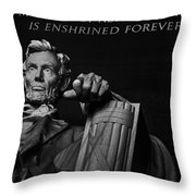 Lincoln The Legacy Of A President Throw Pillow