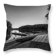 Lincoln Trail State Park Bw Throw Pillow
