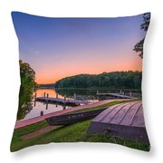 Lincoln Trail State Park Throw Pillow